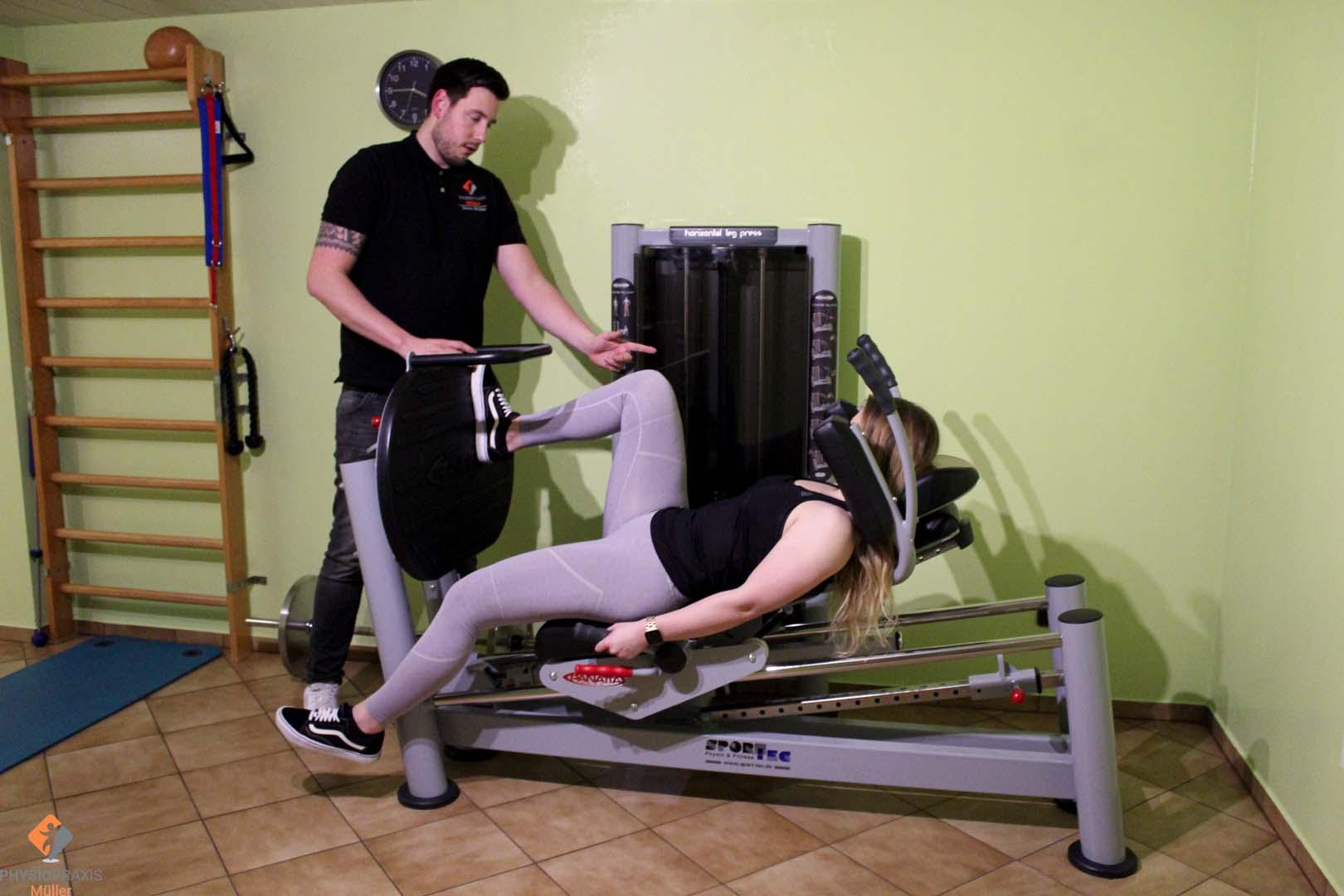 Beinpresse - Krafttraining Oberschenkelmuskulatur